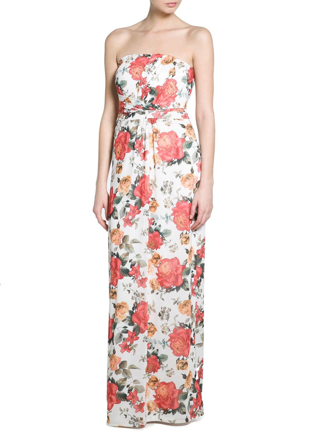 Floral long dress | MANGO