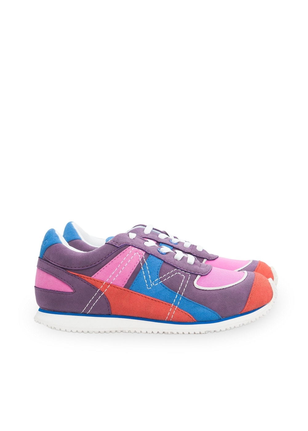 Multicolor lace-up sneakers | MANGO