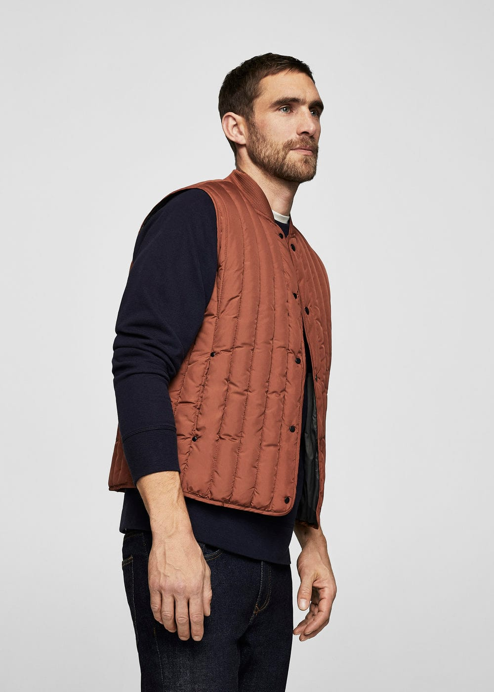 Gilet trapuntato water-repellent | MANGO MAN