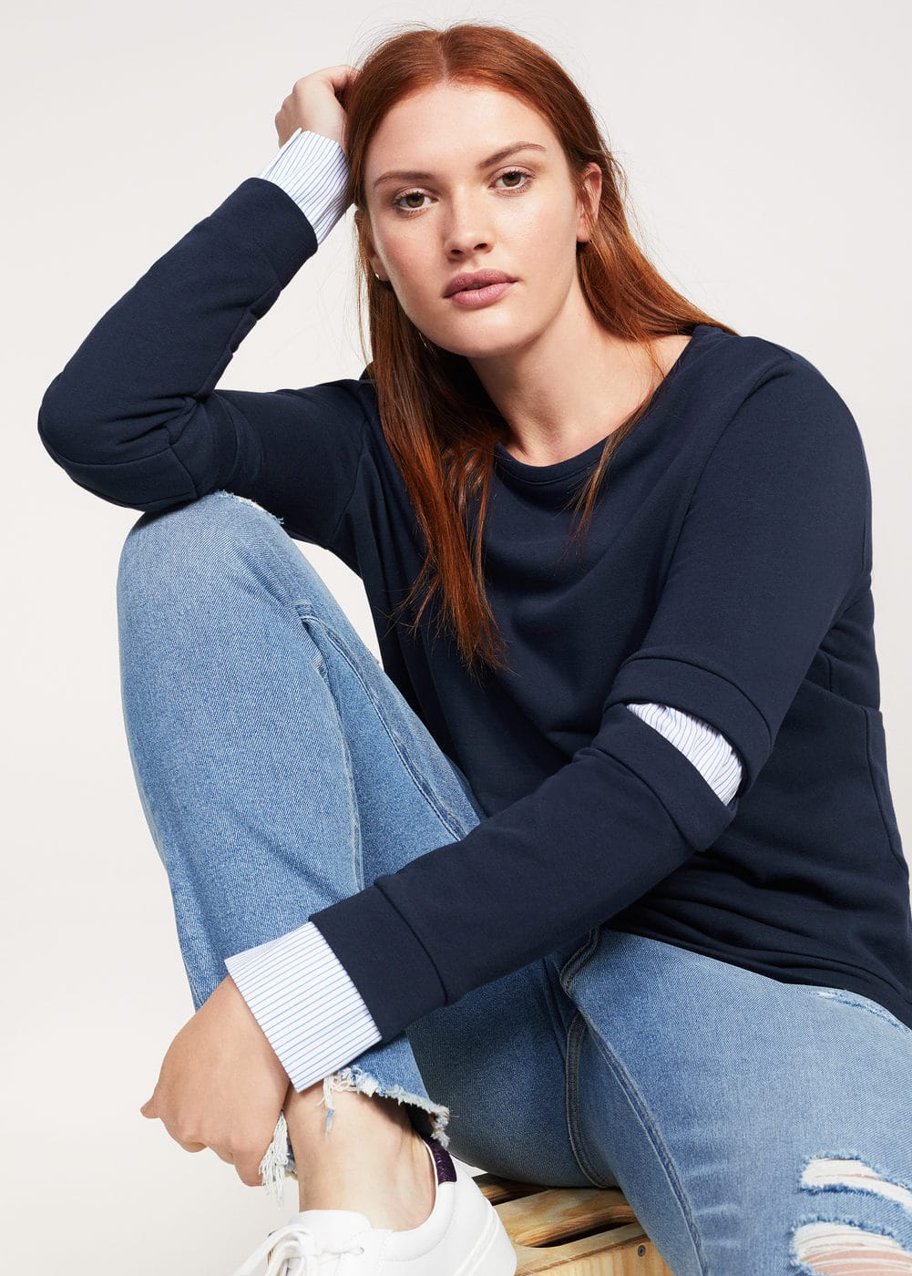 Mixed cotton sweatshirt | VIOLETA BY MNG