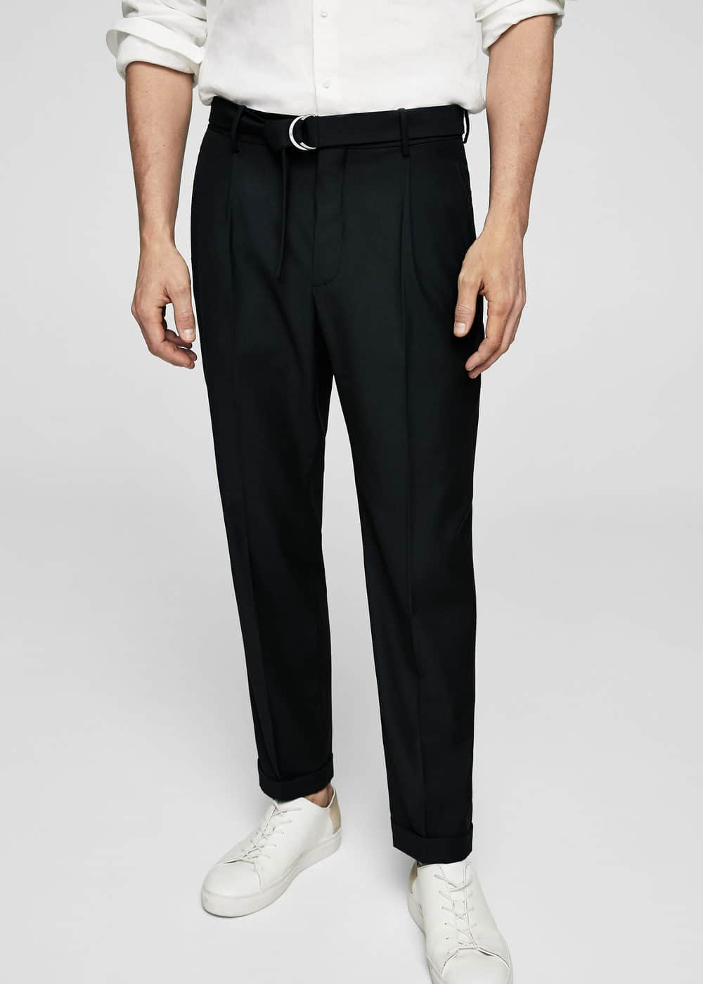 Rings straight trousers | MANGO MAN