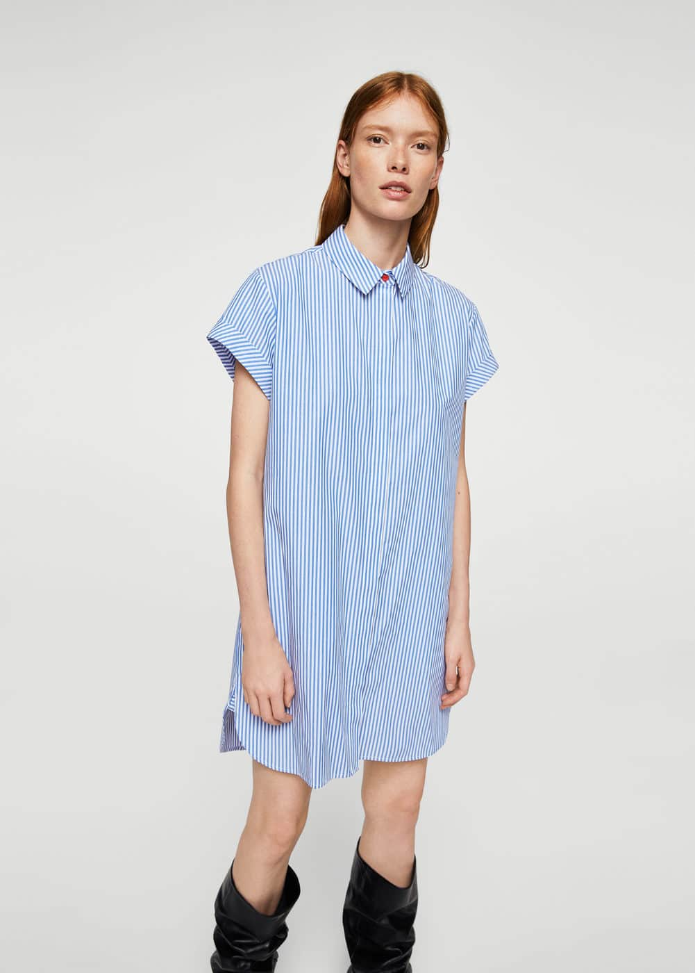 Embroidered shirt dress | MANGO