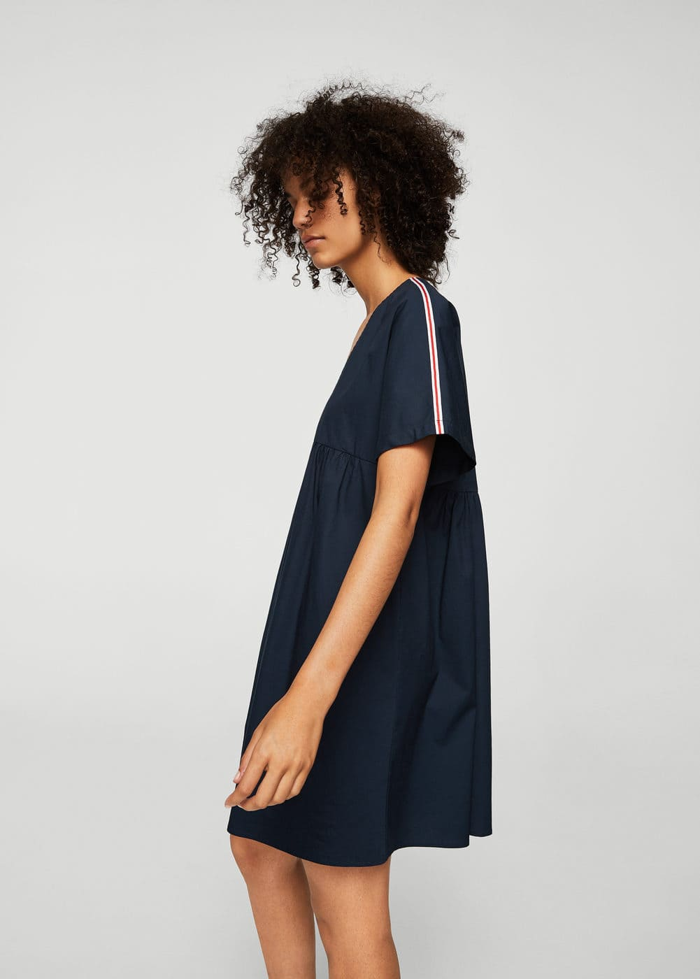 Contrast trim dress | MANGO