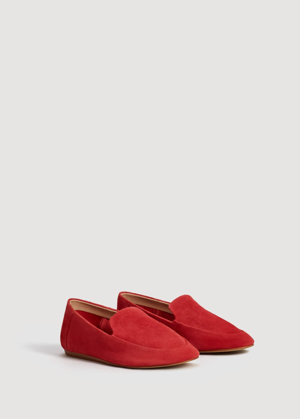 Suede leather moccasin | MANGO