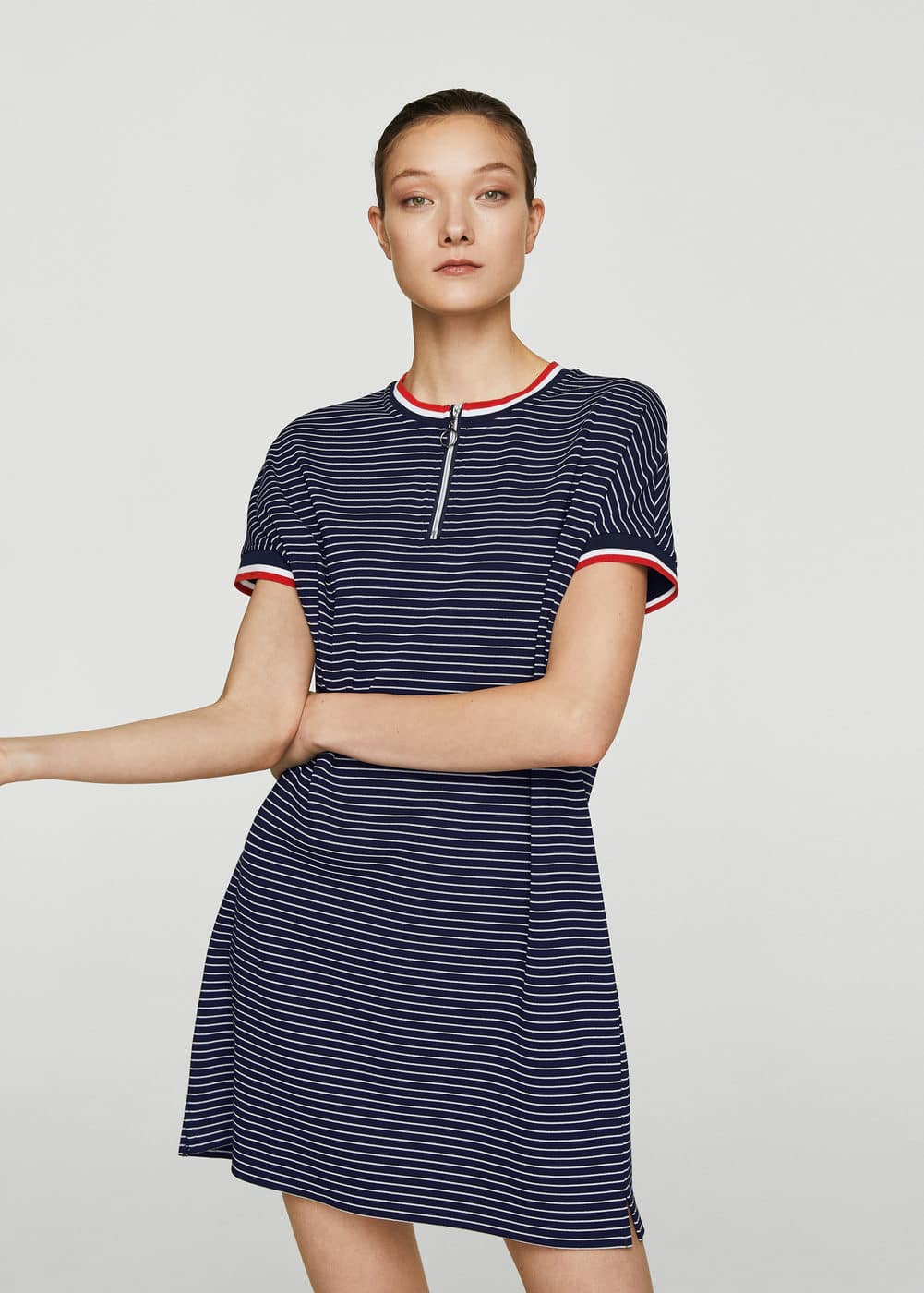Trim striped dress | MANGO