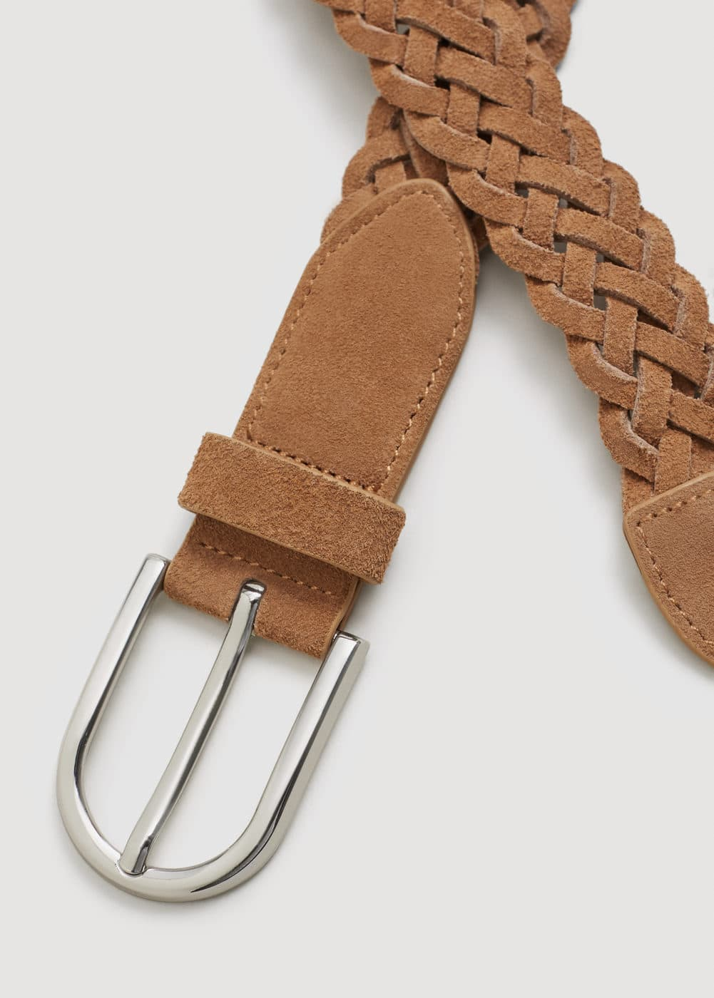 Braided leather belt | MANGO MAN