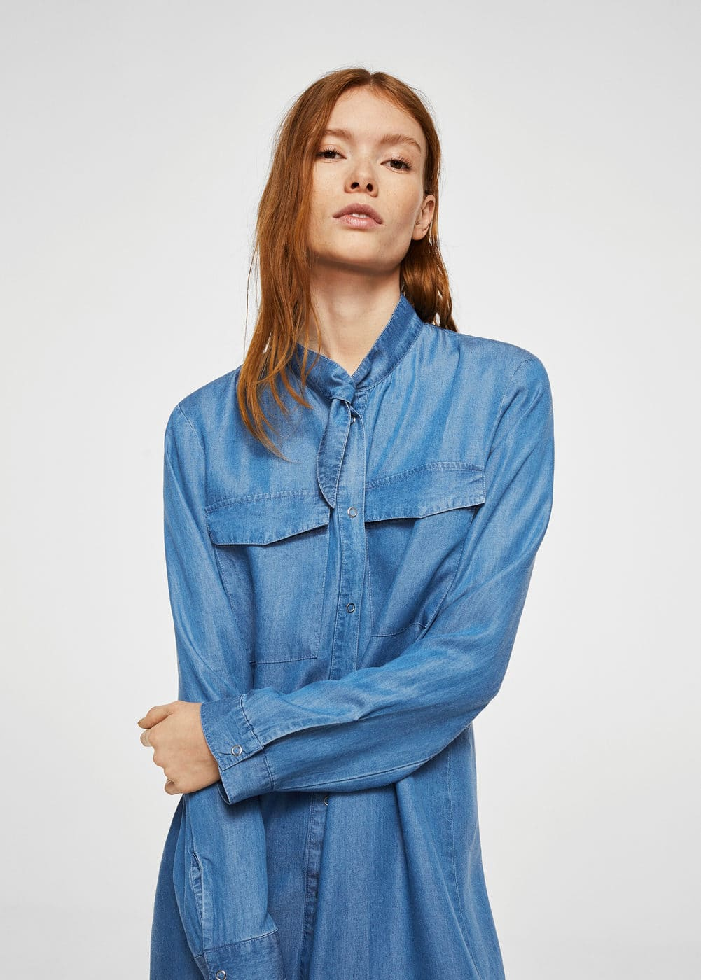 Denim shirt dress | MANGO