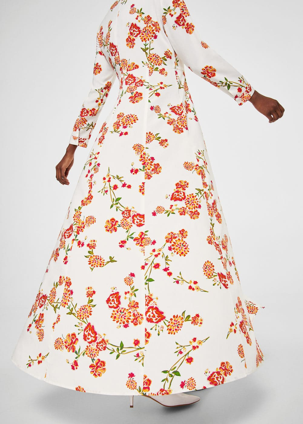 Floral print long dress | MANGO