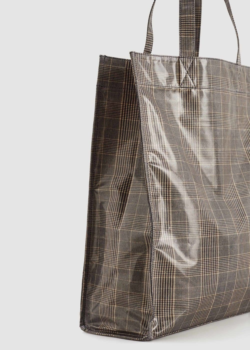 Check shopper bag | MANGO
