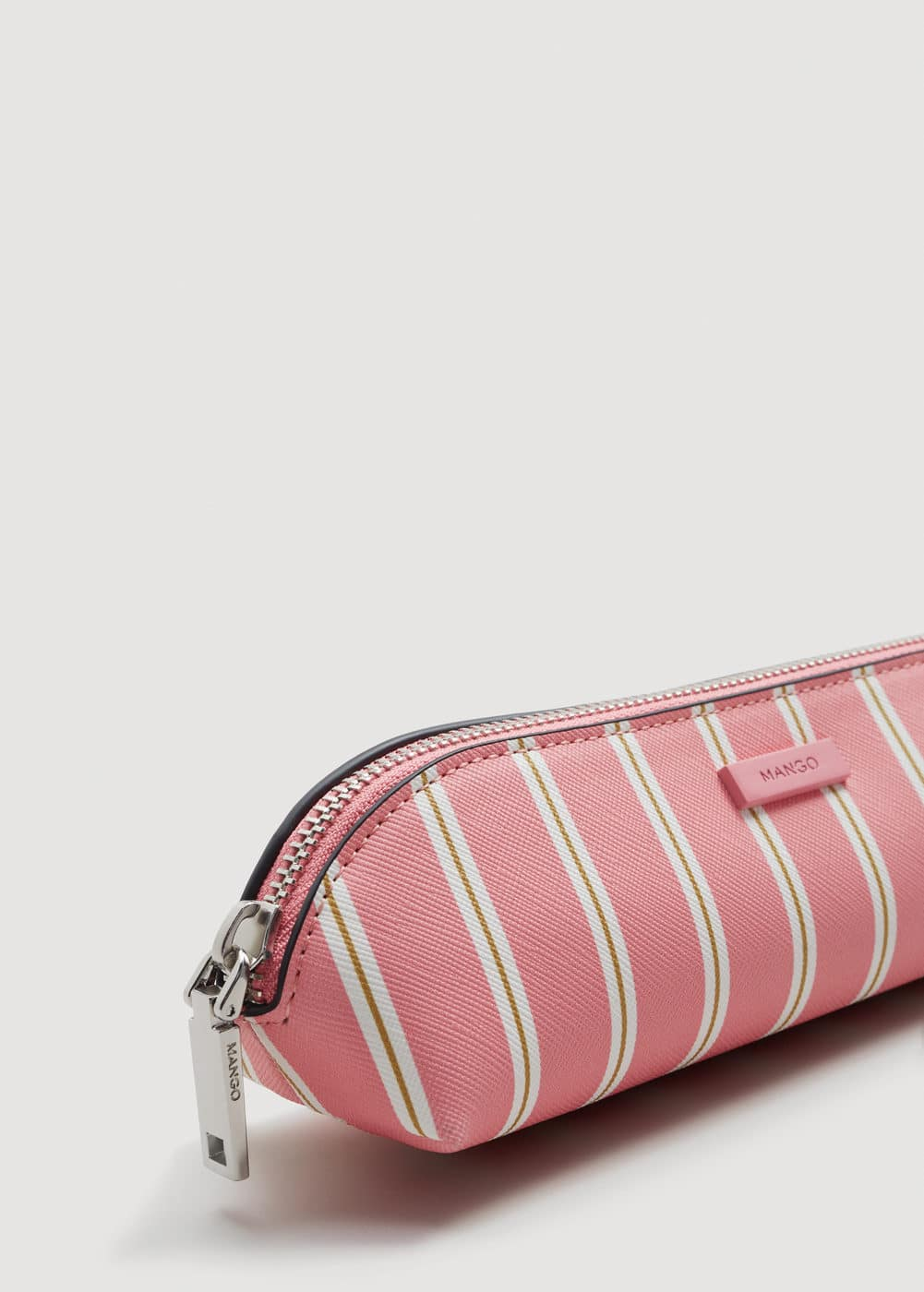 Striped cosmetic bag | MANGO