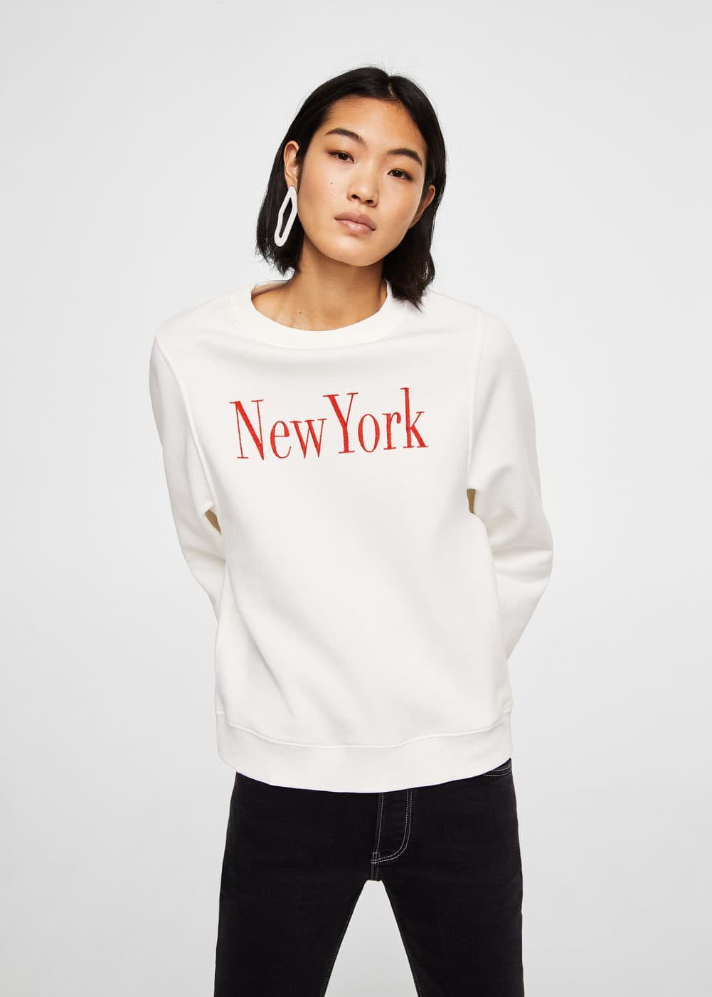 Message pattern sweatshirt | MANGO