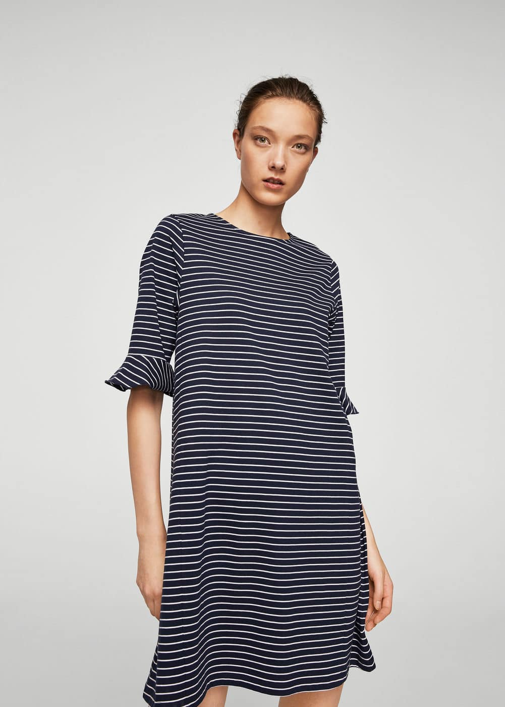 Striped ruffle dress | MANGO