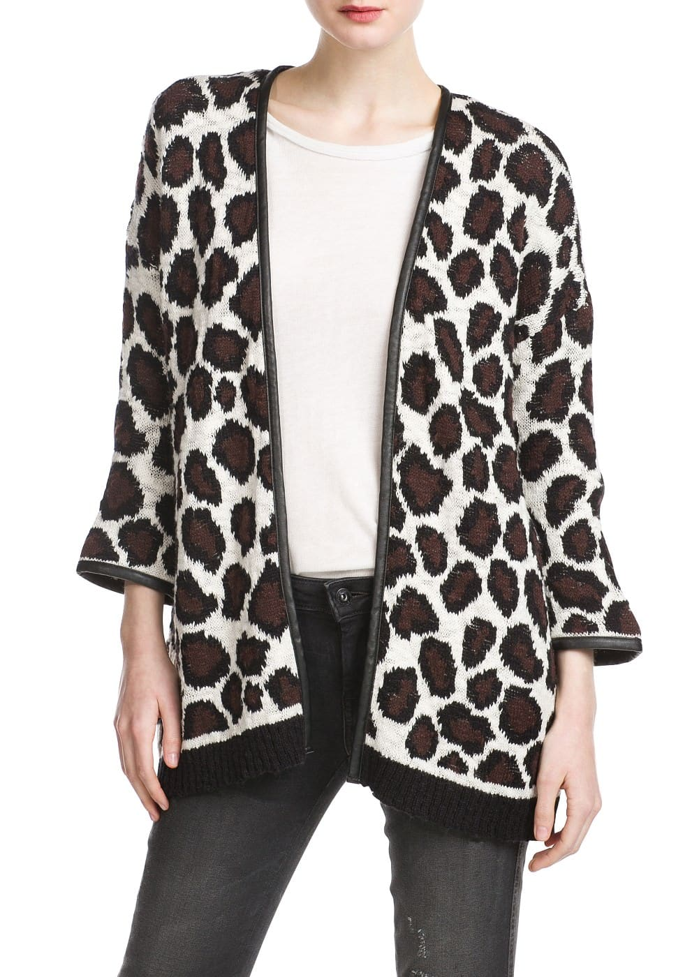 Animal jacquard cardigan | MANGO
