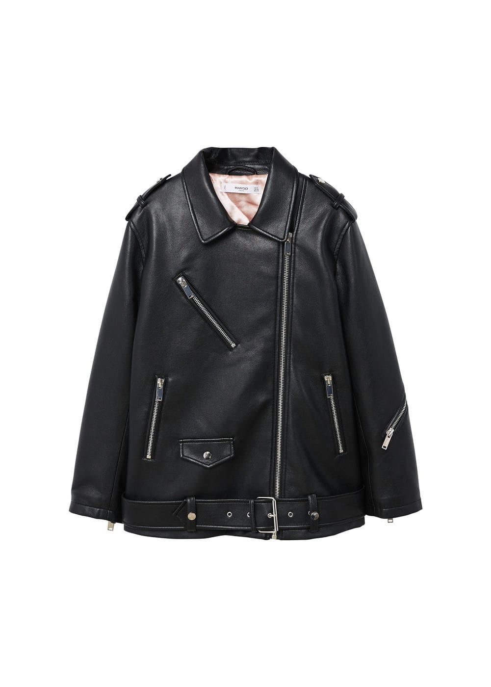 special section variety styles of 2019 enjoy complimentary shipping Biker oversize jacket - Women   Mango USA