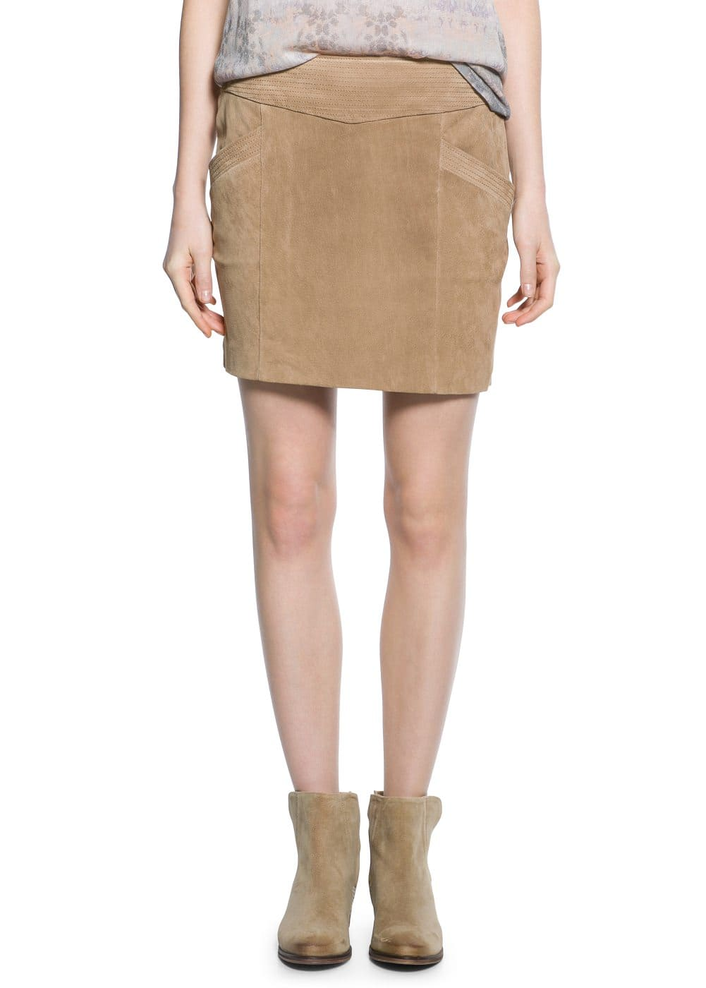 Zip peccary skirt | MANGO MAN