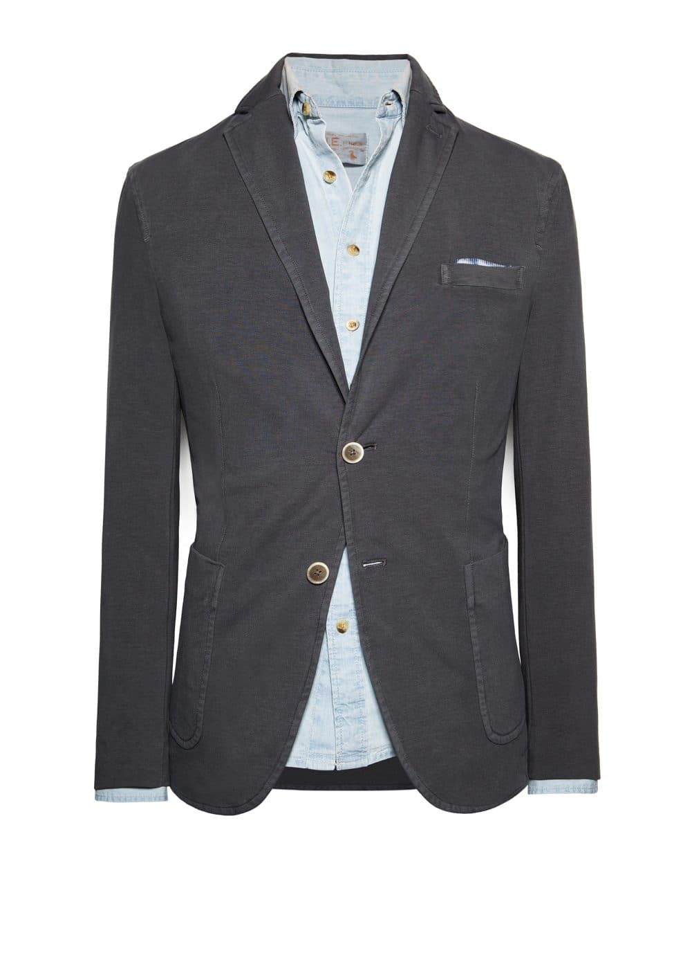 Washed jersey blazer | MANGO MAN