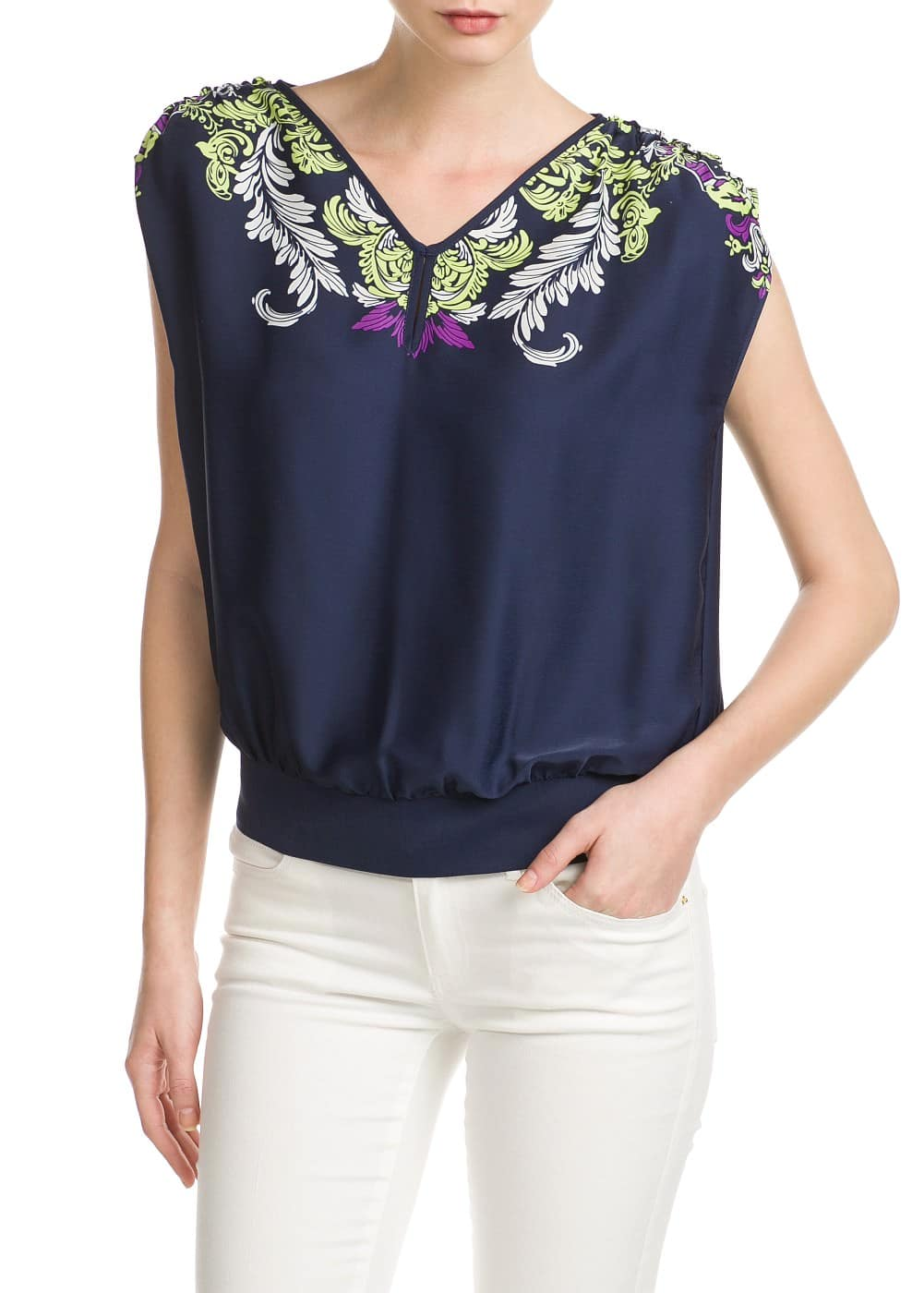 Top estampado barroco | VIOLETA BY MANGO