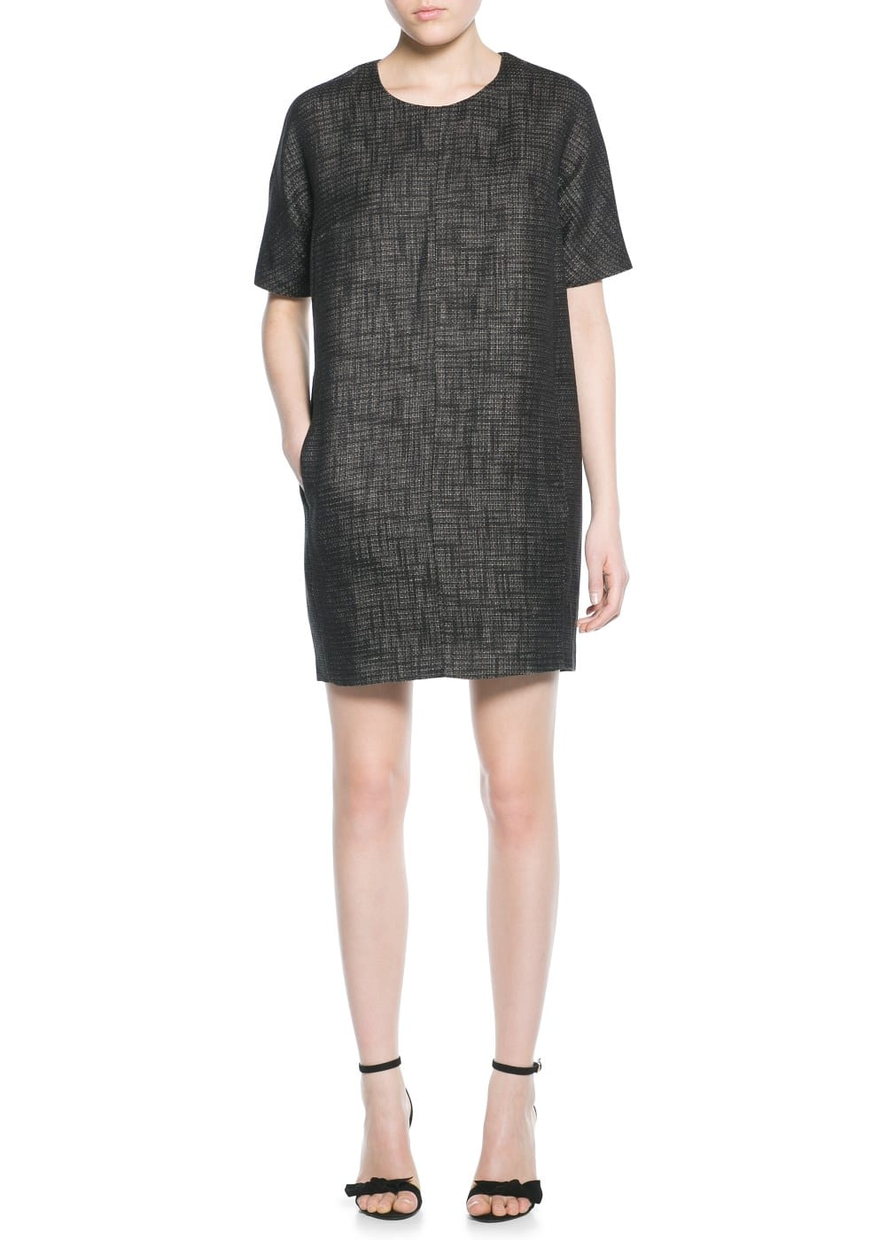 Jacquard minimal dress | MANGO