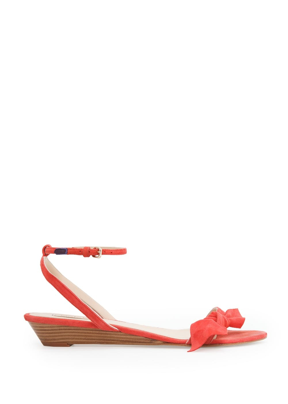 Bow suede sandals | MANGO