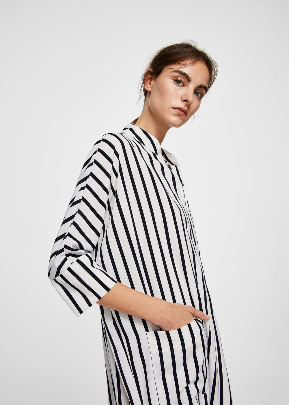 Striped shirt dress | MANGO