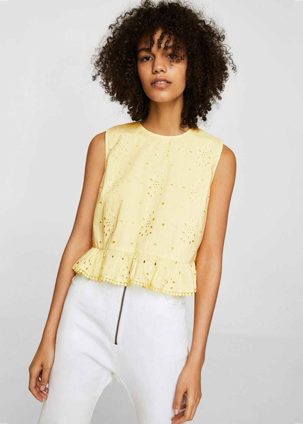 Openwork cotton top | MANGO