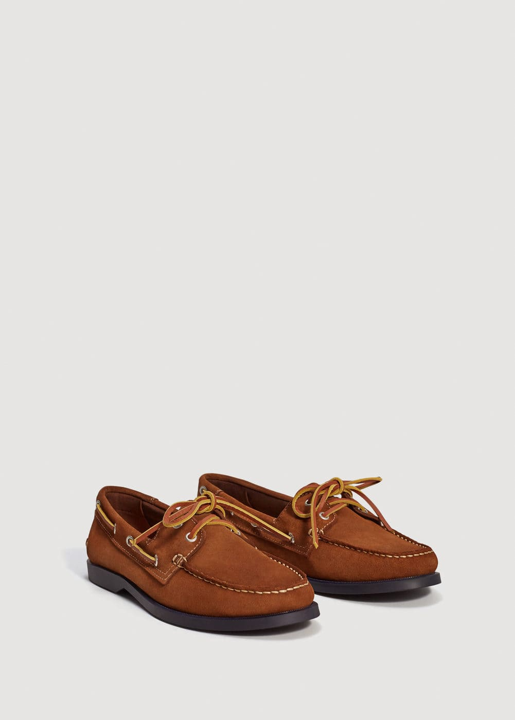 Suede driving shoes | MANGO MAN