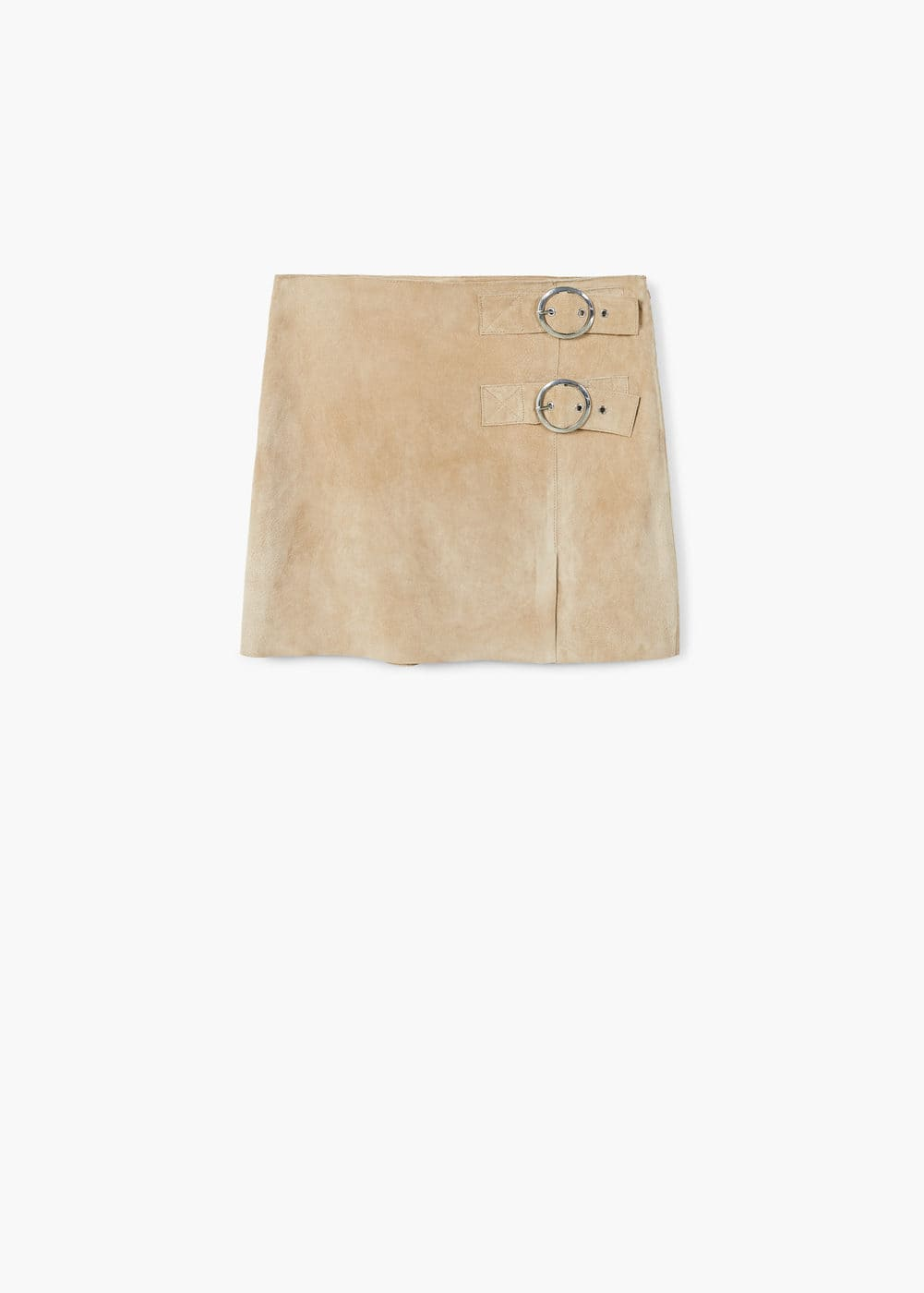 Buckles leather skirt | MANGO