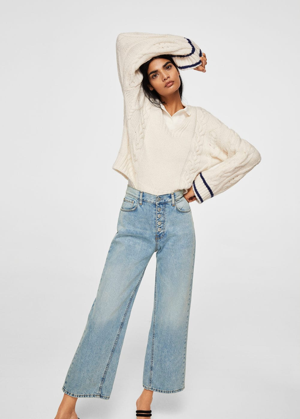 Vintage relaxed jeans | MANGO