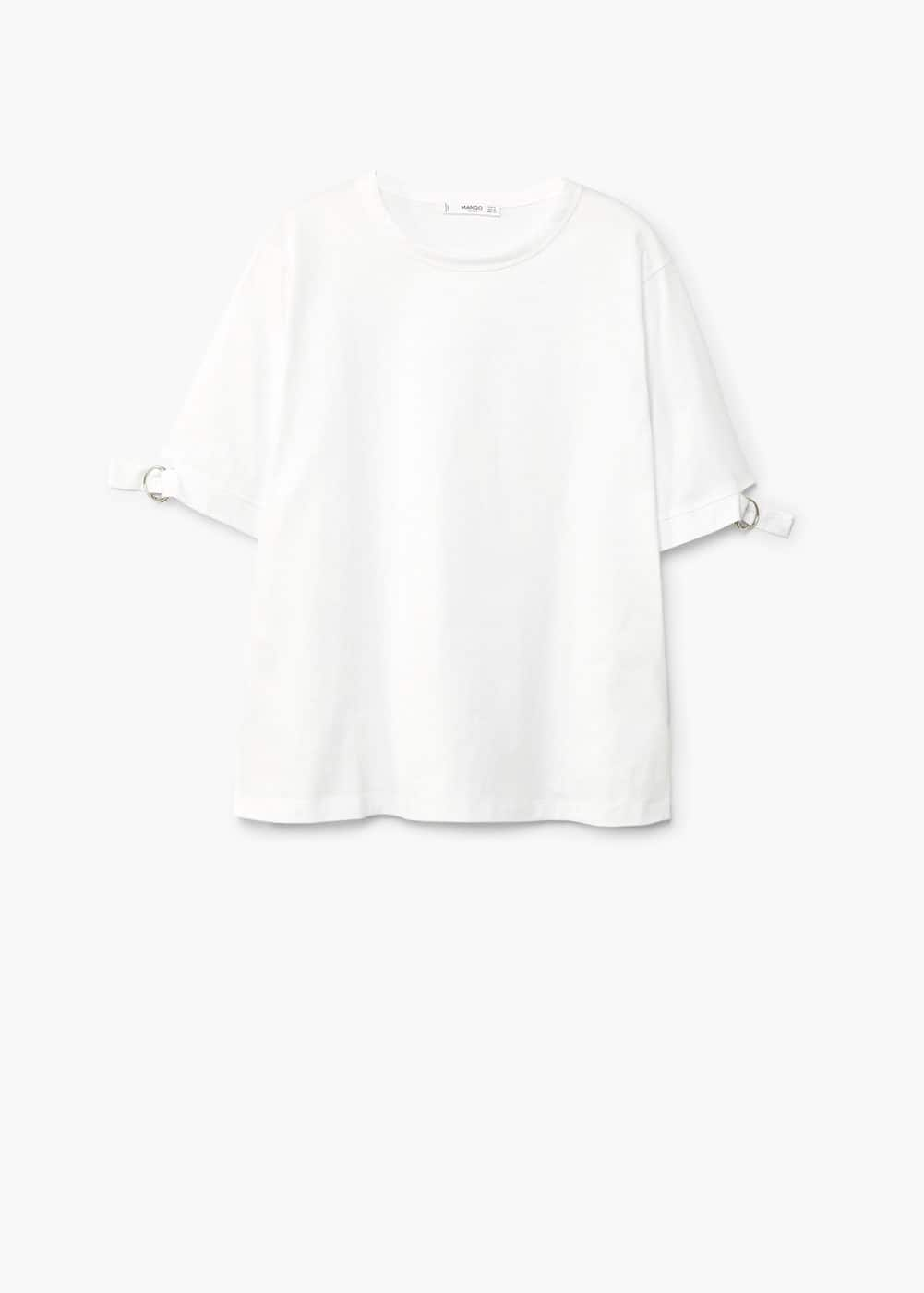 Sleeve detail t-shirt | MANGO