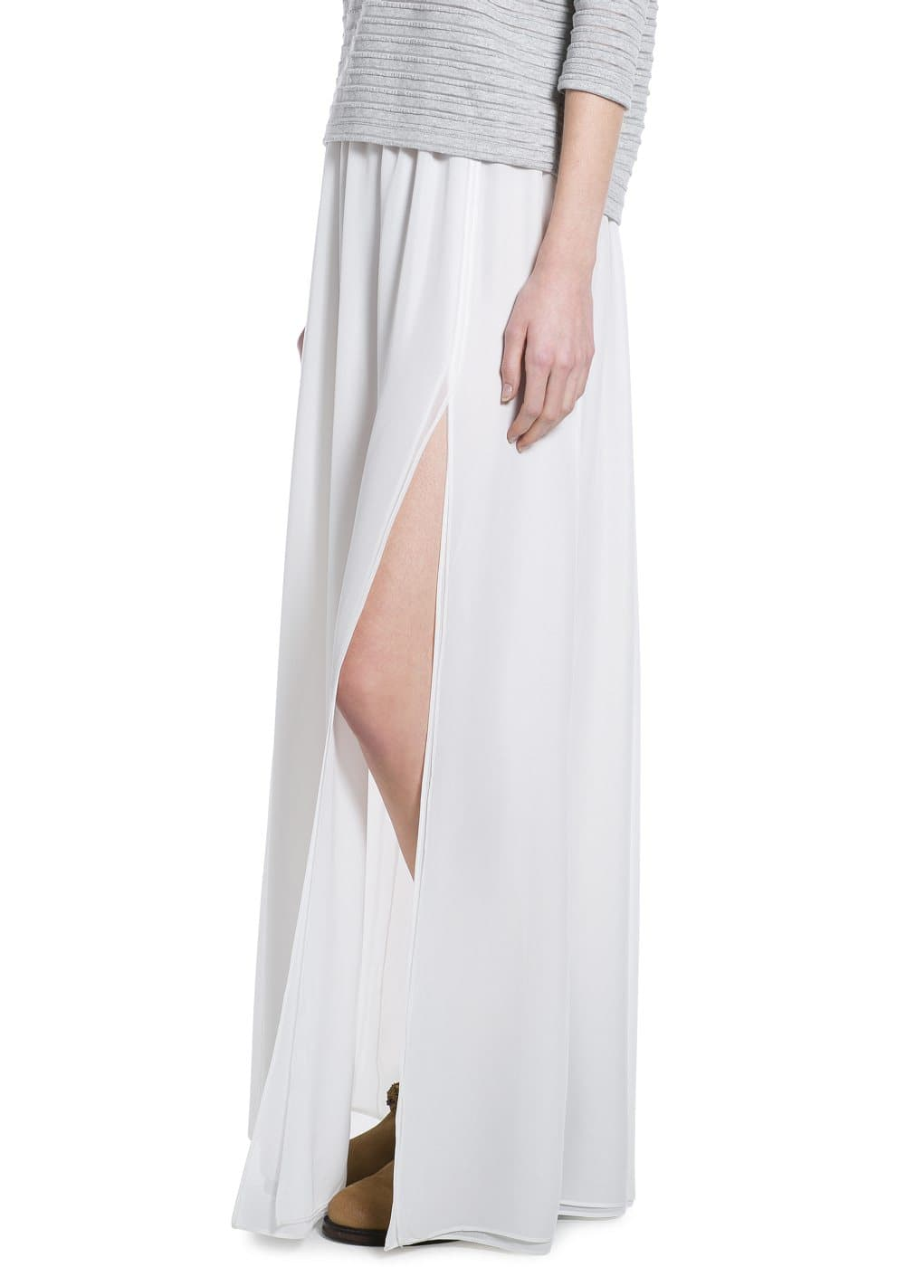 Cut-out long skirt | MANGO