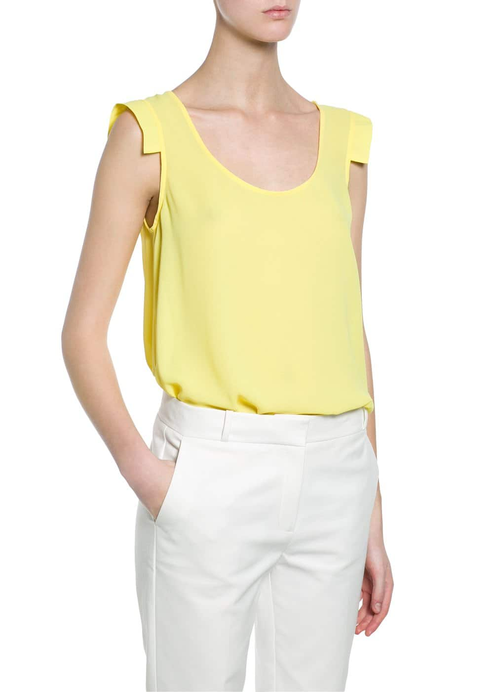 Shoulder detail top | MANGO