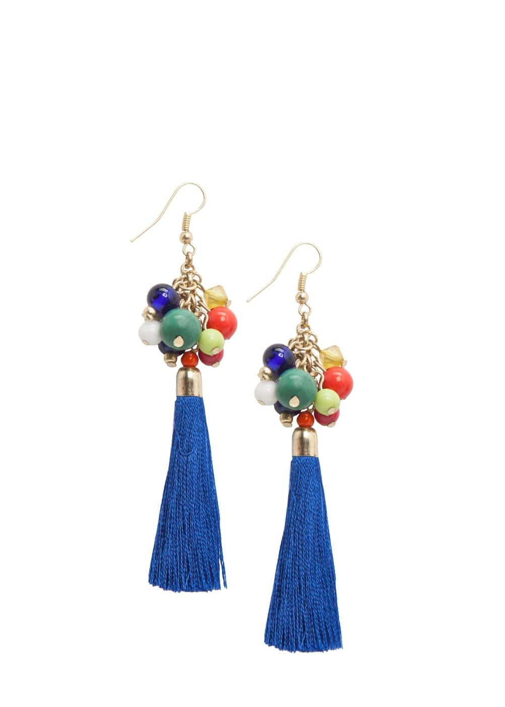 Bead tassel earrings | MANGO