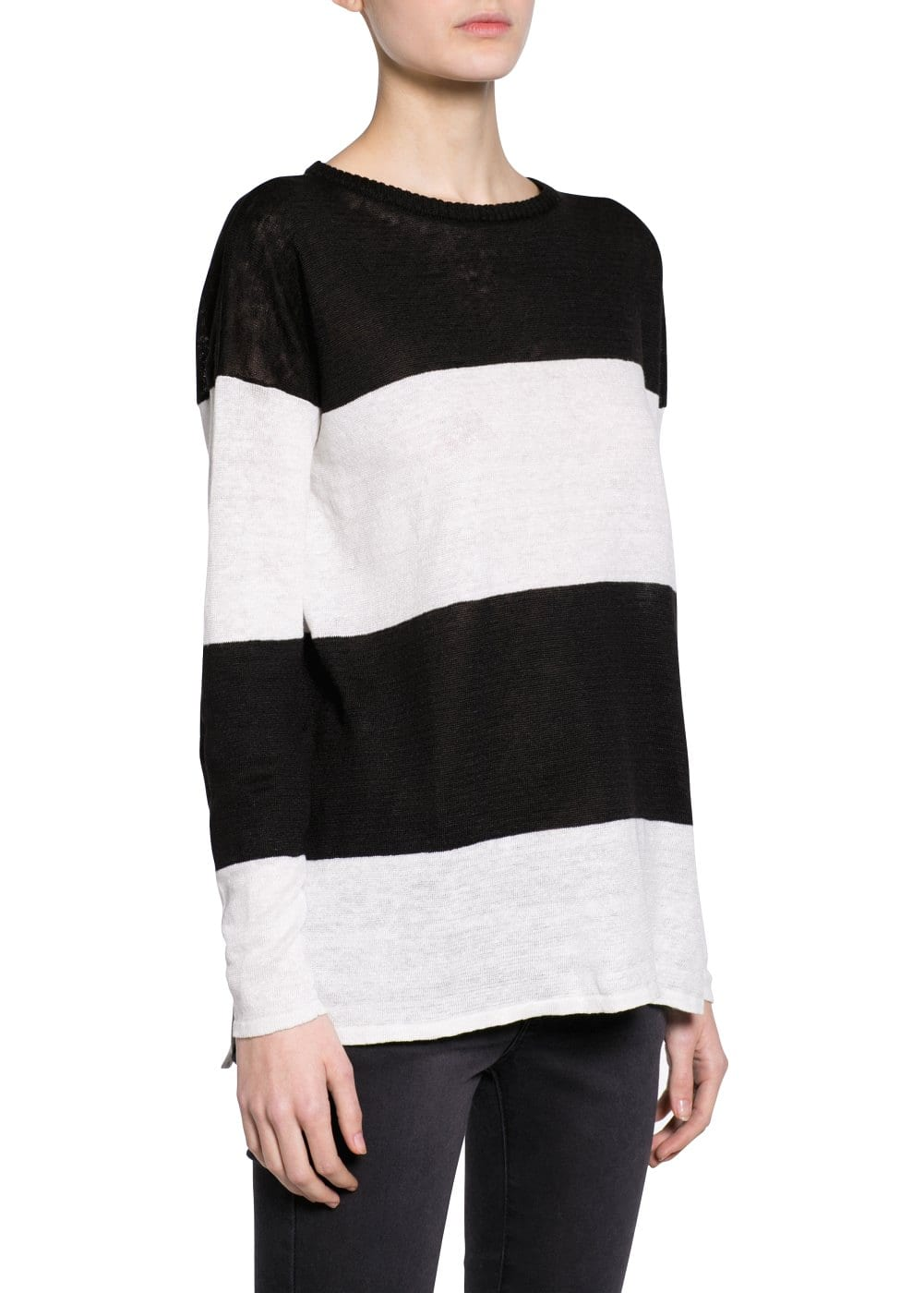 Linen striped sweater | MANGO