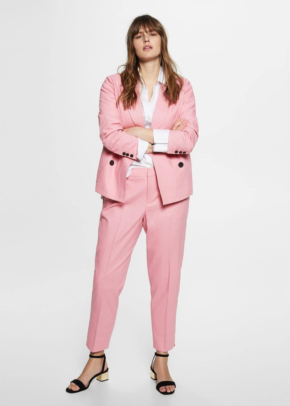 Linen suit trousers | VIOLETA BY MNG
