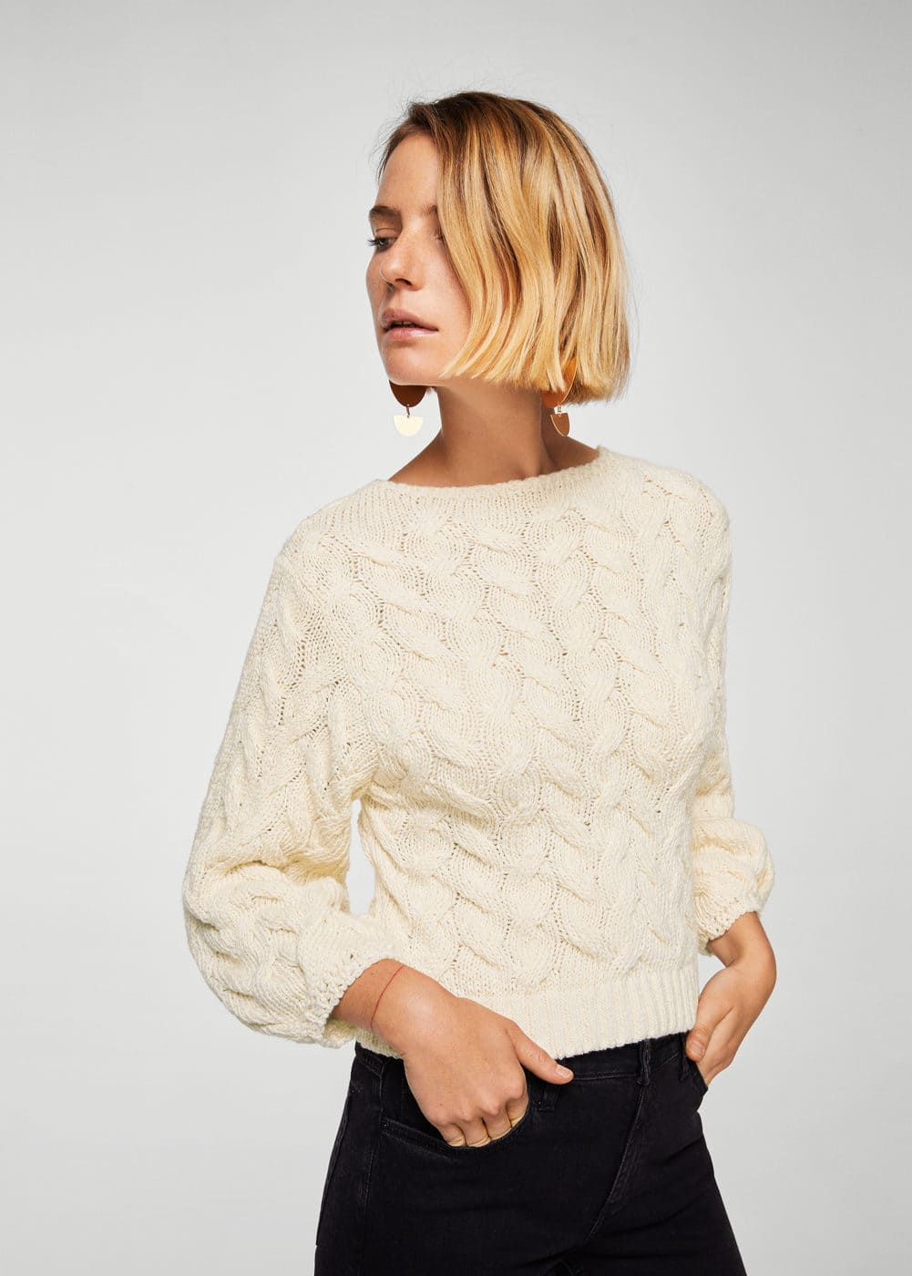 Knitted braided sweater | MNG