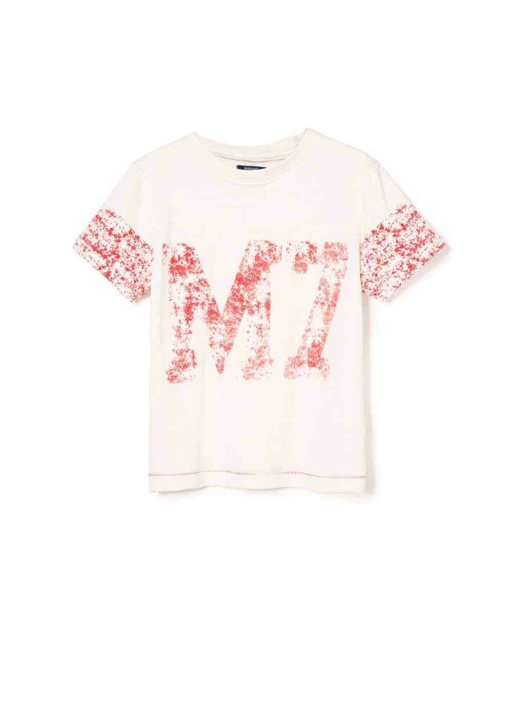 Distressed print t-shirt | MANGO KIDS