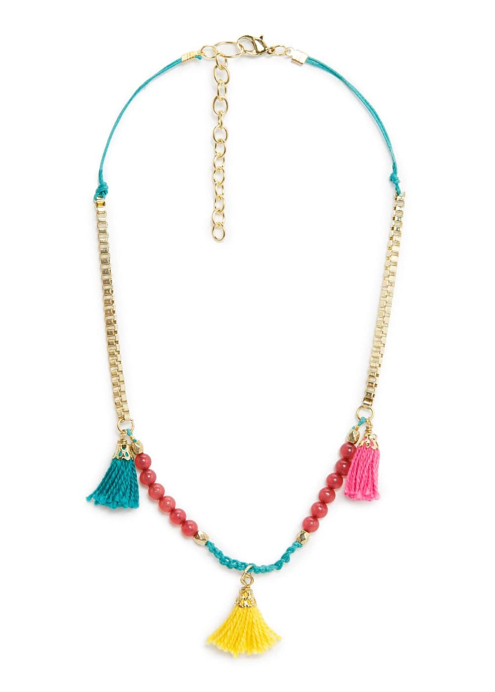 Bead tassel necklace | MANGO KIDS