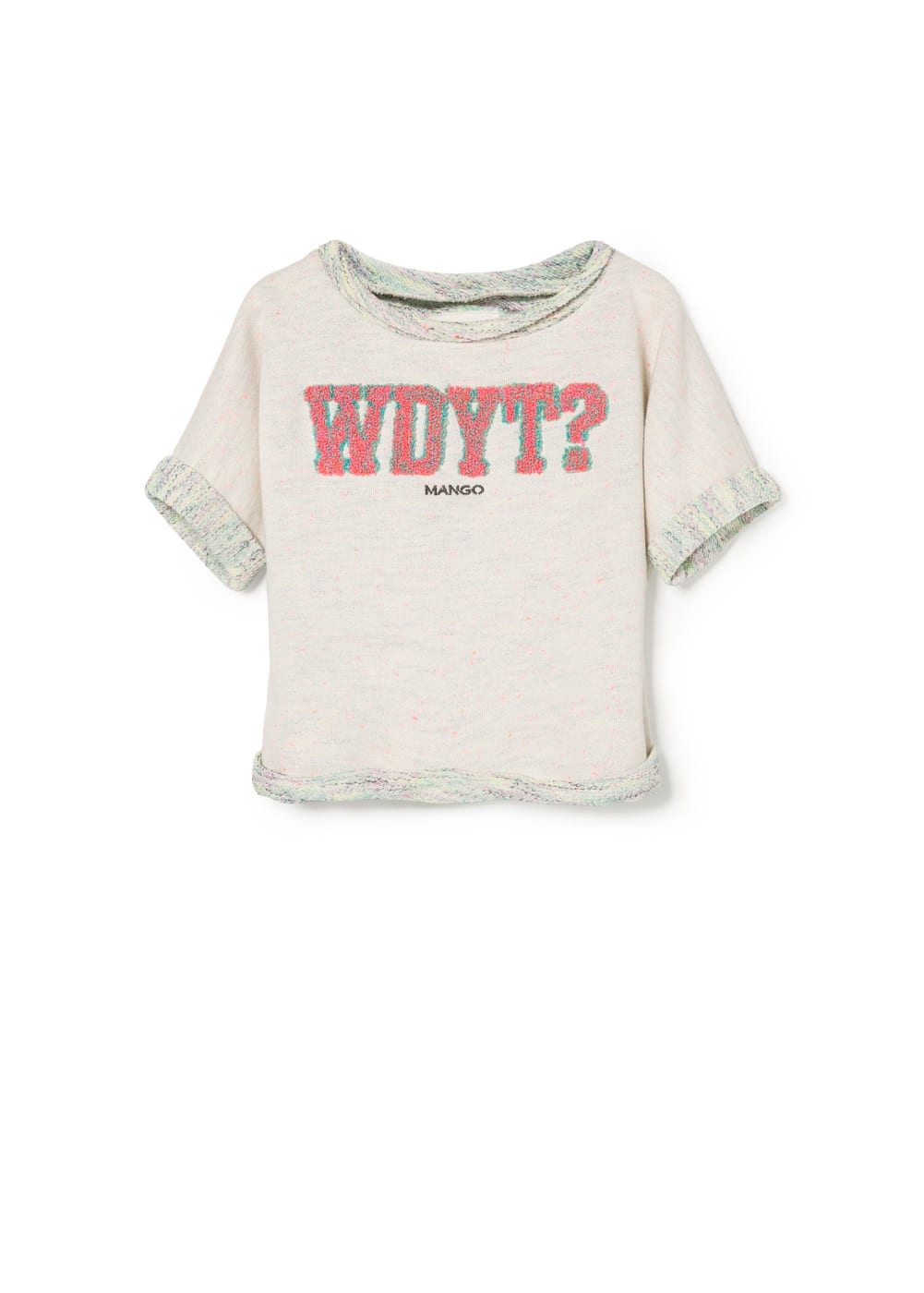 Embroidered message sweatshirt | MANGO KIDS