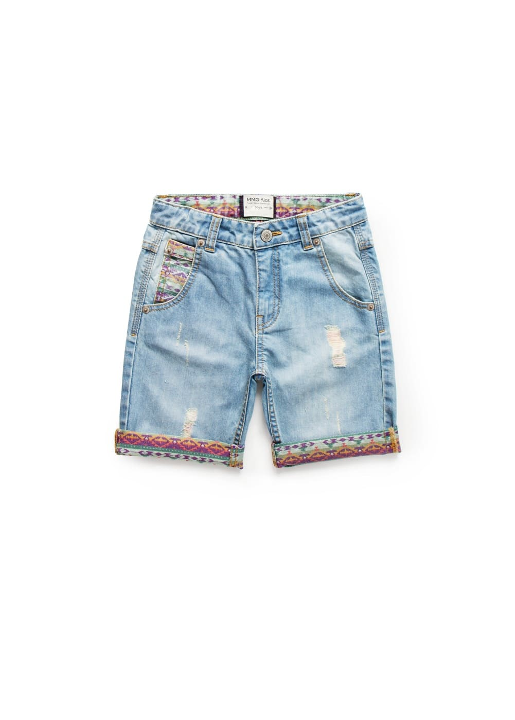 Denim bermuda shorts | MANGO