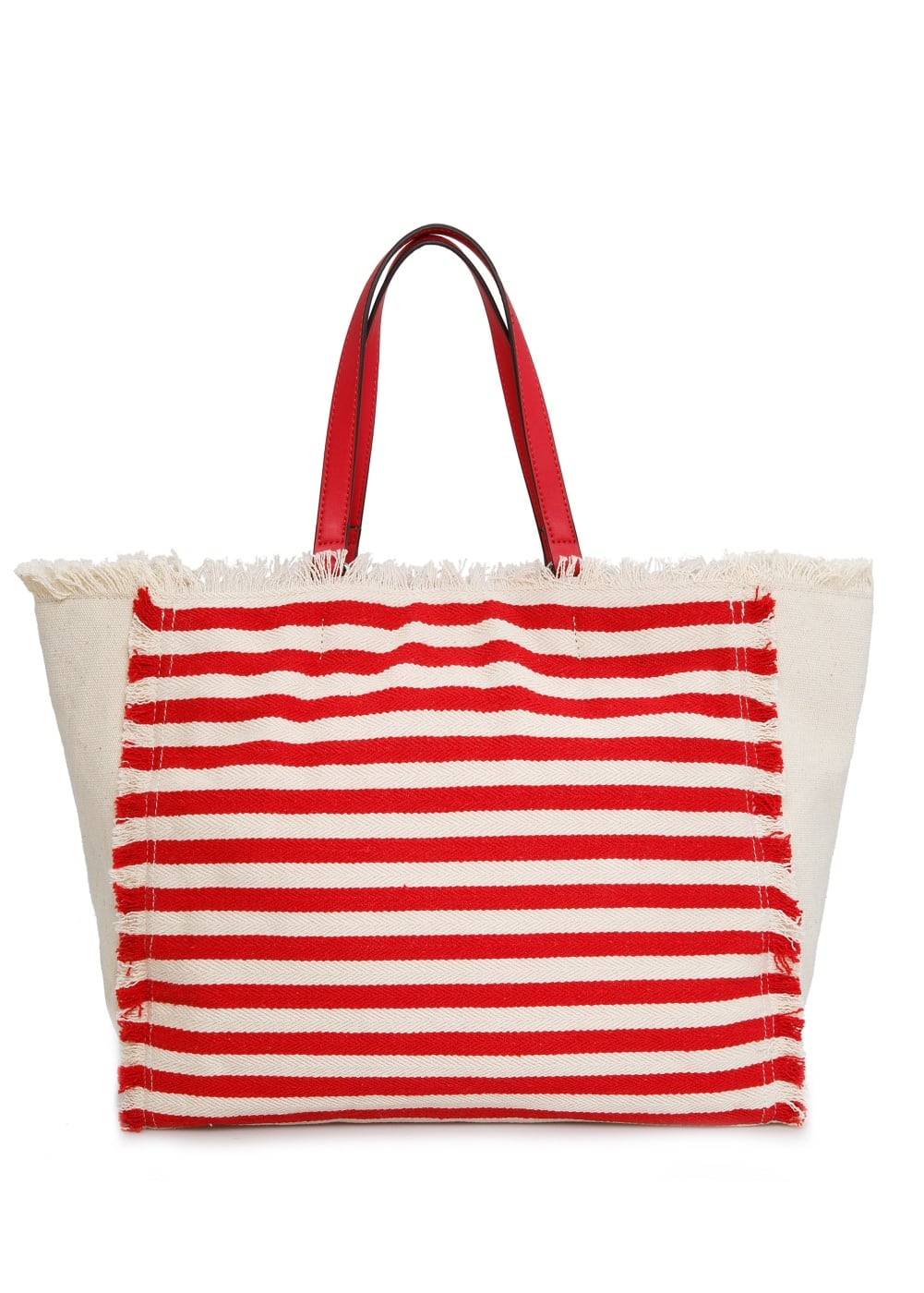 Striped canvas bag | MANGO