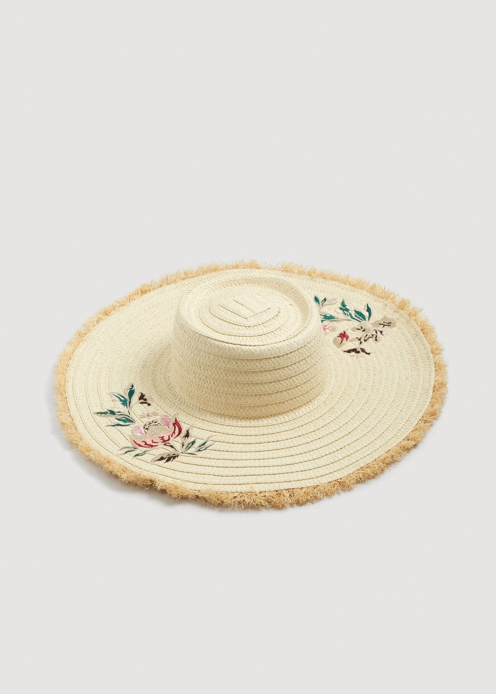 Flowers straw hat | MANGO