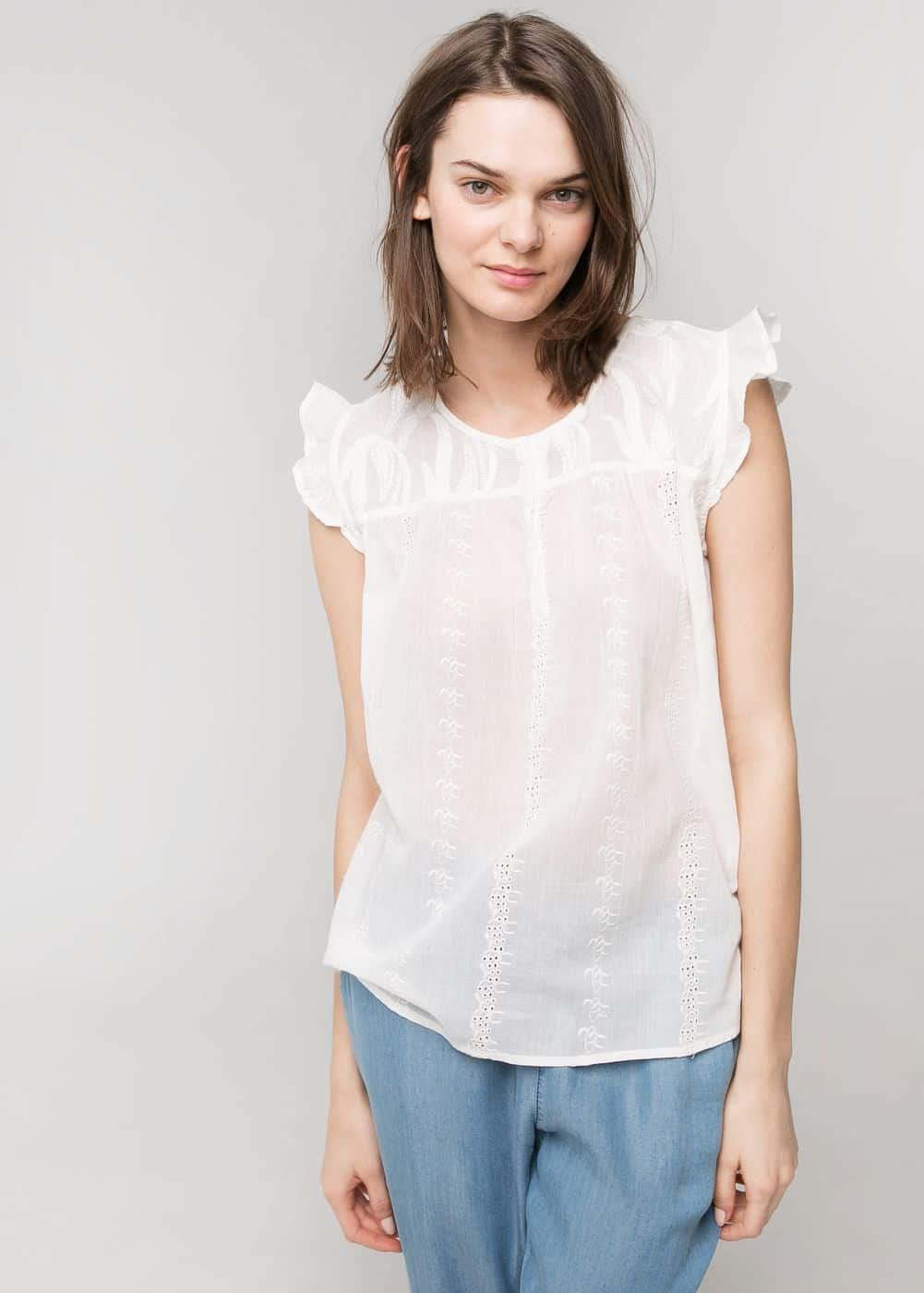 Embroidered top | MANGO