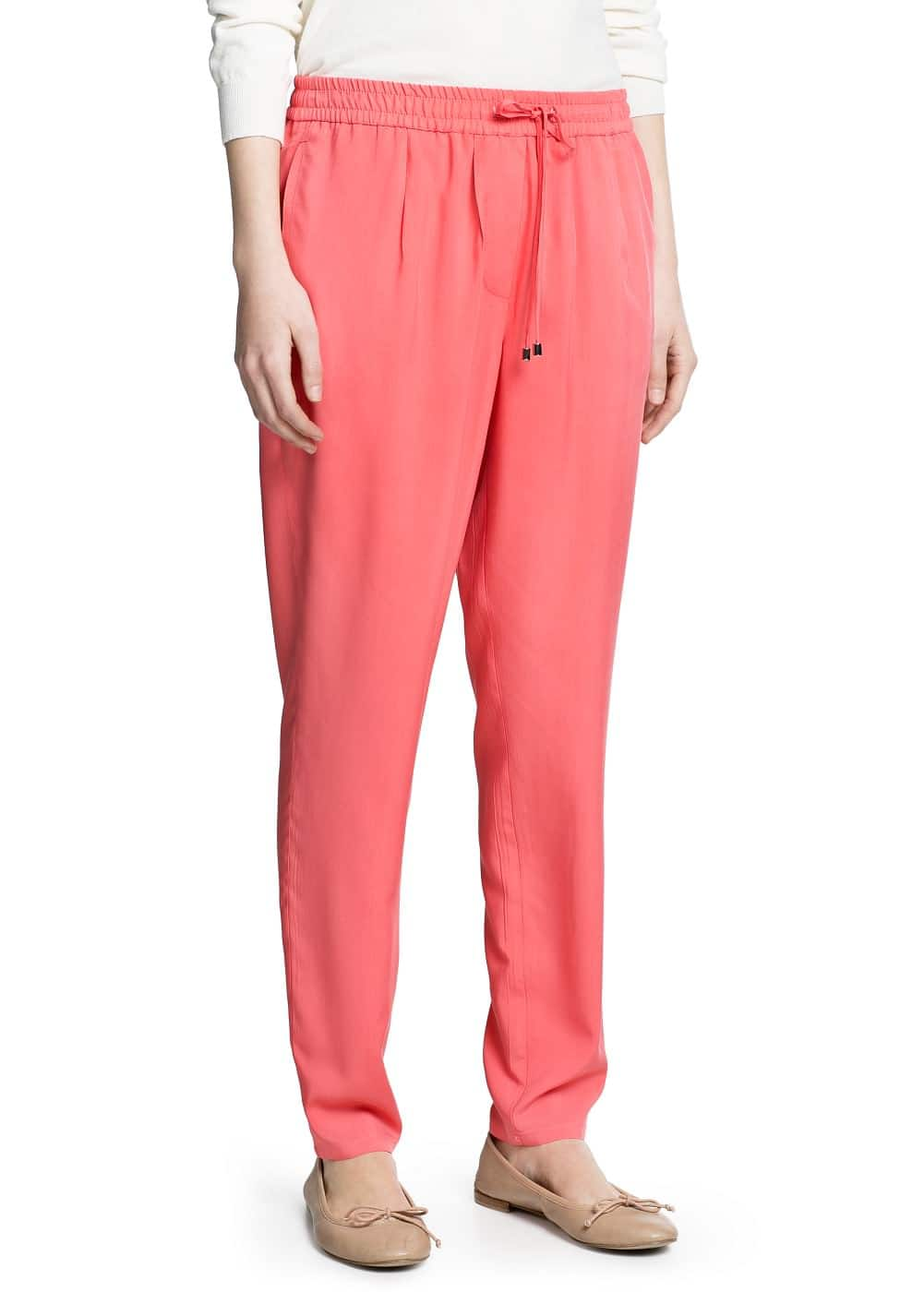 Lightweight baggy trousers | MANGO