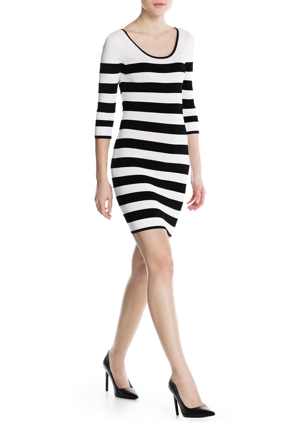 Striped bodycon dress | MANGO