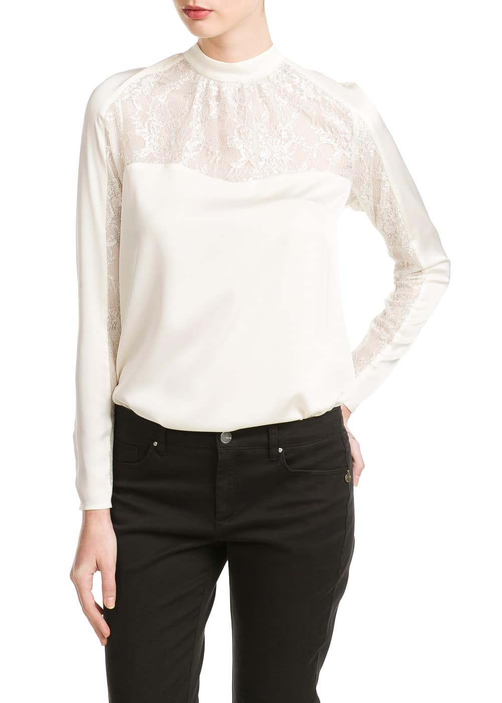 Blonda lace blouse | MANGO