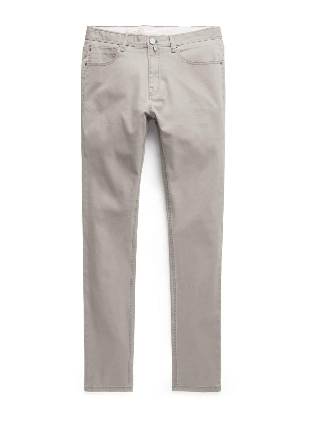 Slim-fit 5 pocket cotton trousers | MANGO MAN