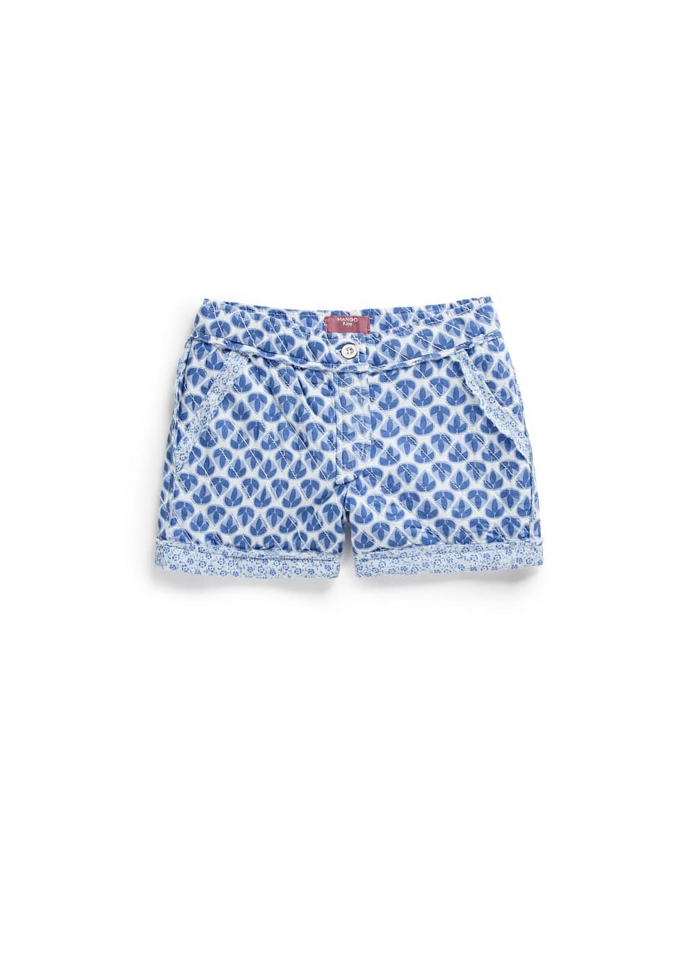 Floral trim shorts | MANGO KIDS