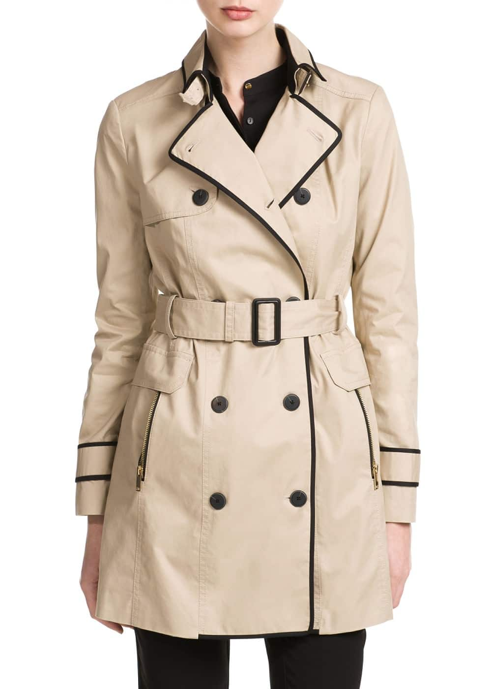 Trim trench coat | MANGO