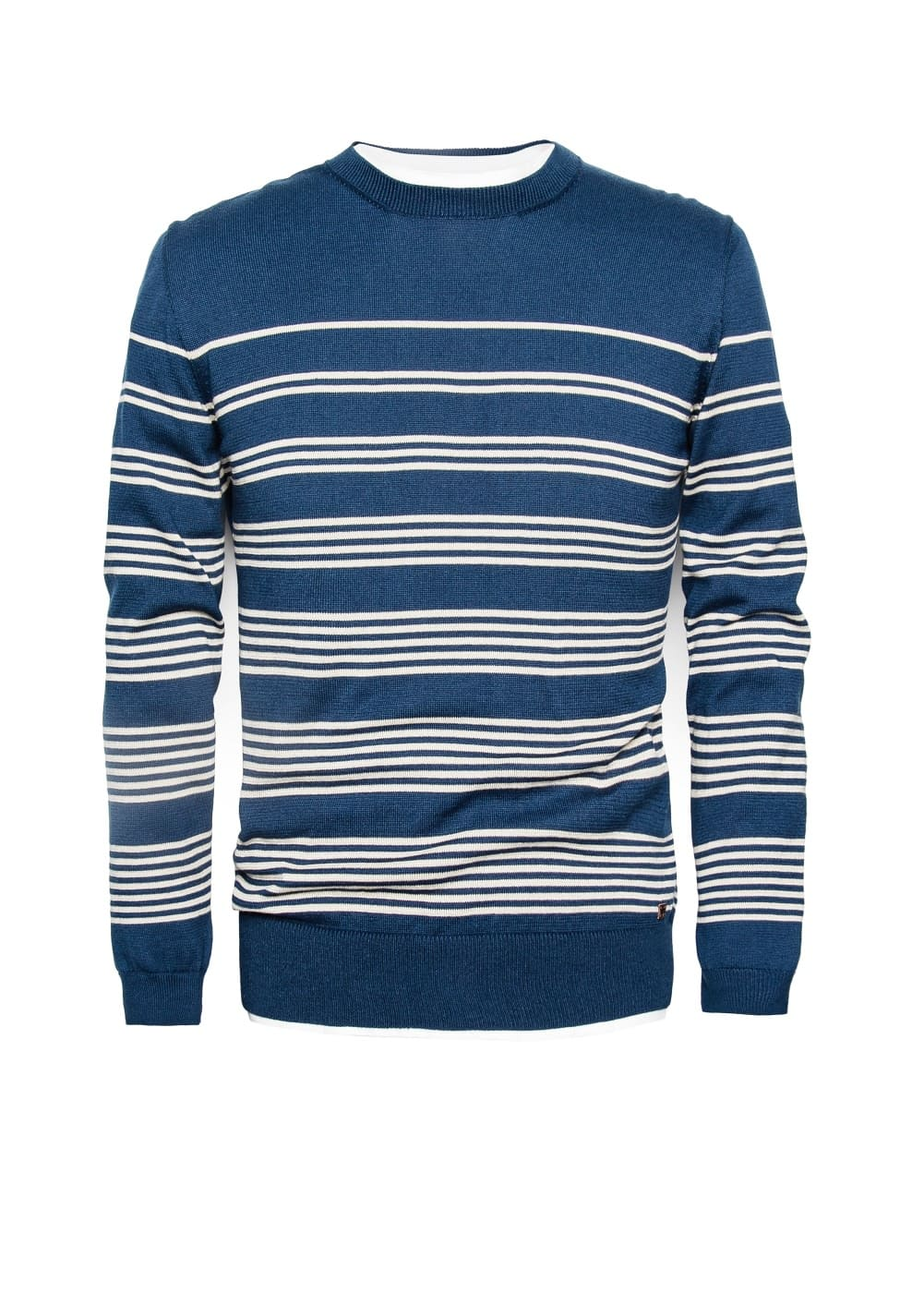 Striped cotton-blend sweater | MANGO