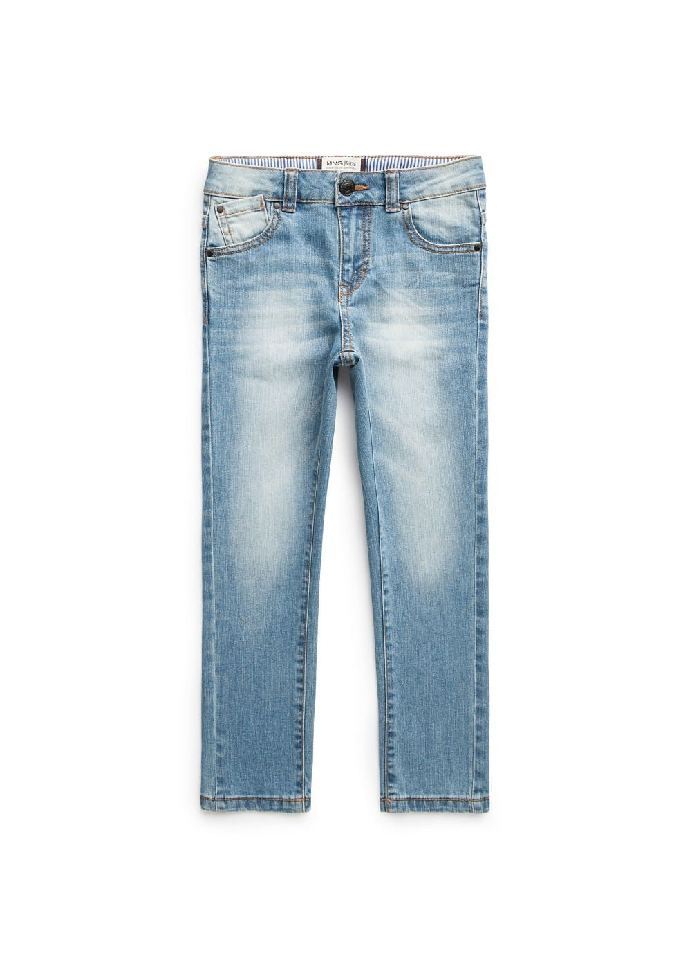 Slim-fit medium wash jeans | MANGO KIDS